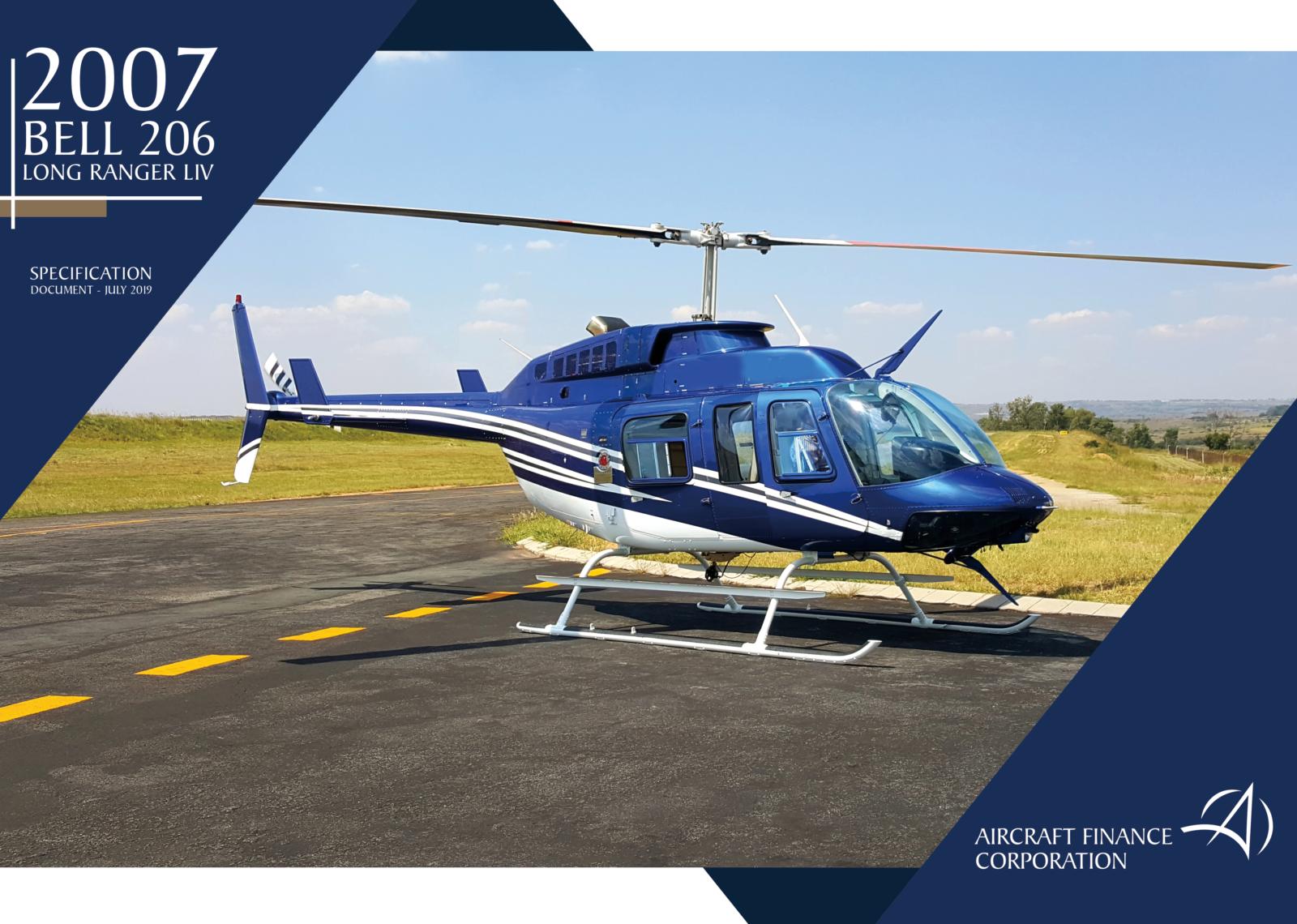 2007 Bell 206 LIV, Aircraft Finance Corporation, ZT-RCP
