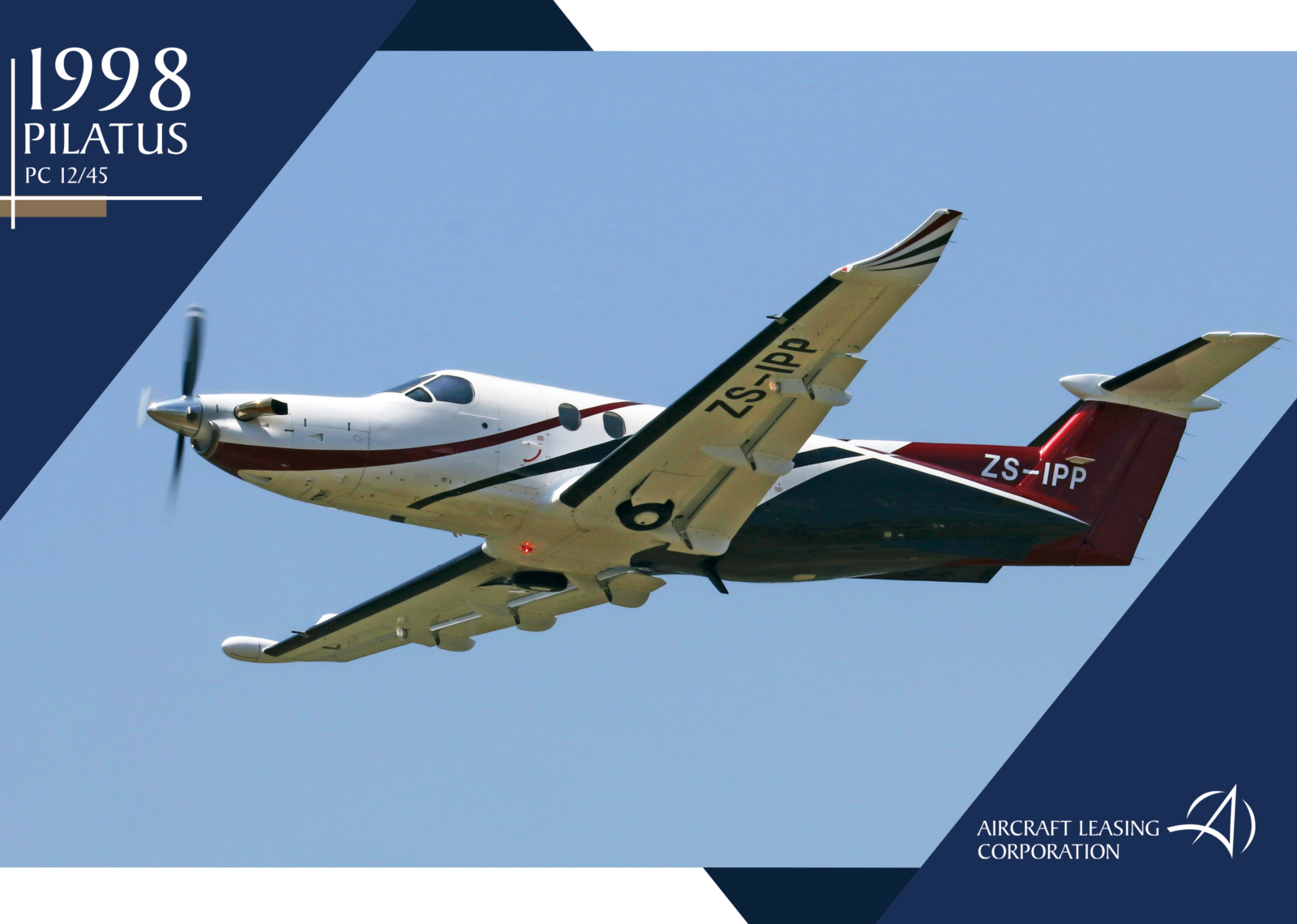 1998 Pilatus PC 12/45, Aircraft Leasing Corporation